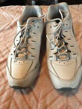 Easy Spirit Women'S Shoes Sz 11 Walk Run White Blue Leather Tennis Shoe work