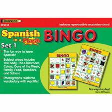 Edupress Spanish in a Flash Bingo Game Set 1 Ep62345
