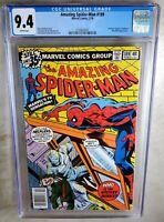 Amazing Spider-man #189 NEWSSTAND - Marvel 1979 CGC 9.4 NM WP - Comic I0084