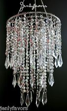 Acrylic Plastic Chandelier Silver For Party Decoration (12 Pieces)