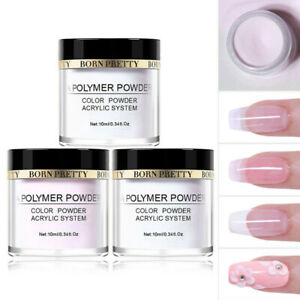 3 Boxes 10ml BORN PRETTY Nail Acrylic Powder Extension French Tips Polymer Dust