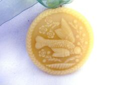 Handcrafted Beeswax Ornament Round Hummingbird 3 1/2""