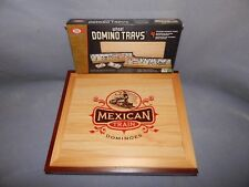 MEXICAN TRAIN DOMINOES GAME (NEW) & IDEAL WOODEN DOMINO TRAYS (NEW)