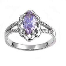 Baby, Kids, Girl's Sterling Silver Ring Light Purple Lavender CZ Size 1,2,3,4,5