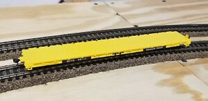 HO Scale Roundhouse 1281 MTTX Trailer Train 60' Flat Car #98111 knuckle couplers