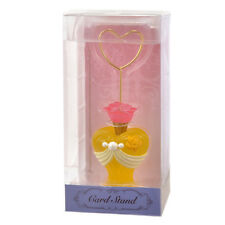 Disney Store Japan Beauty Beast Princess Belle Card Photo Clip Stand Holder Rose