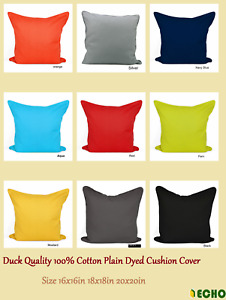 New Quality 100% Cotton Plain Dyed Cushion Cover Size 16x16in 18x18in 20x20in