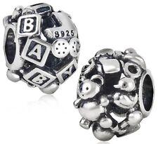 S3790 Sterling Silver Baby Barrel Bead for European Charm Bracelet