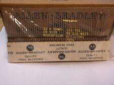 Allen-Bradley Carbon Comp Resistors 10k 1/2watt  50pcs