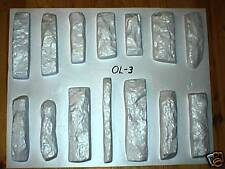 #ODL-03 - 14 CONCRETE STONE MOLDS MAKE LEDGESTONE VENEER ROCKS FOR PENNIES EACH