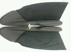 VX VY VZ HSV WK WL anthracite black Leather perforated velour NOS Last Part Set