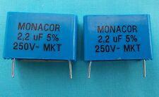 2 x 2.2uf MKT PCB FOIL CROSSOVER CAPACITORS