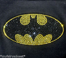 "7.5"" Batman iron on rhinestone transfer applique patch superhero super hero"