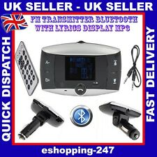 Wireless Car MP3 Player Audio FM Transmitter Handsfree USB Card Remote Kit B079