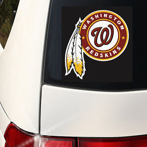 Cool Alternate Washington Redskins Car/Wall Decal 6 inch Wall Graphics - Color