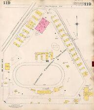 1913, GOAD, ALBERTA, CANADA, EDMONTON EXHIBITION STADIUM, COPY PLAT ATLAS MAP
