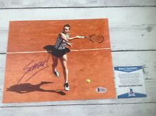 Simona Halep Signed Autographed 8x10 Photo Beckett BAS COA f