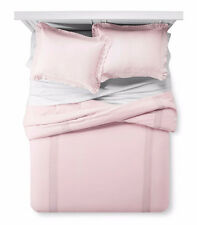 Simply Shabby Chic Pink CROCHET LINEN BLEND 3 Piece King Comforter Set NWT