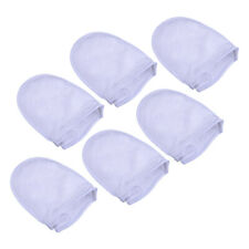 6Pcs Microfiber Makeup Remover Mitt Facial Cleansing Cloth Gently Gloves White