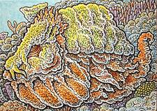 ACEO  Fantasy Original The Gorgon Spermfish