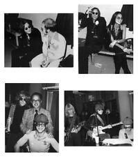 John Lennon rare photo set, 4 rare single photographs Beatles Elton John concert