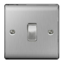 10 x BG Nexus Metal NBS12 - STAINLESS STEEL Single Switch 1 Gang 2 Way