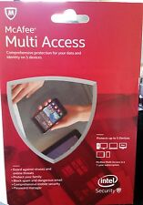 McAfee Antivirus Multi Access 2017 1 Year 1 User Protect 5 Devices