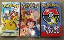 POKEMON VHS Lot of 3 -- Primeape Problems, Great Race, Trainer Trading Card Game