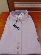 Mens $98 XXL POLO-RALPH LAUREN  Purple STRETCH Oxford Shirt Slim Fit Pony Logo