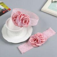 Pretty Baby Girl Flower Shape Headband Elastic Hairband Infant Hair Accessories^