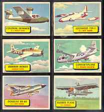 1957 TOPPS PLANES BLUE BACK TRADING CARD PARTIAL SET LOT OF 6 in EX-NM cond
