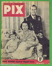 #T100.  1952 PIX MAGAZINE ROYAL QUEEN ELIZABETH SPECIAL ISSUE