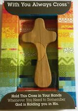 Dayspring CROSS Bamboo Carbonized Wooden Cross With You Always Decoration