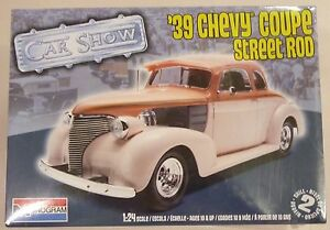 revell #4241 1939 Chevy Coupe Street Rod Model Car Kit- 1:24 scale by Monogram
