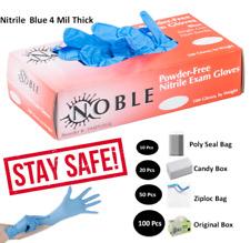 GLOVES 10 -20 -50 -100 PACK NITRILE BLUE - VINYL POWDER FREE & LATEX FREE