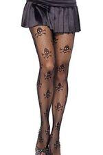 black SKULL print stockings ladies rockabilly/GOTH skull STOCKINGS one size
