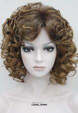 Strawberry Blonde & Auburn Mixed Short Curly Women Ladies Fluffy Wig FTTLD184