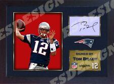 Tom Brady New England Patriots NFL signed autograph American Football Framed