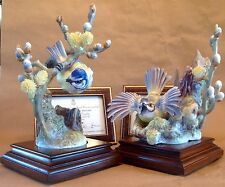 Royal Worcester, Dorothy Doughty Limited Edition Blue Tit pair, c 1964 Perfect