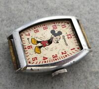 Gents vintage Ingersoll Mickey Mouse watch for parts or project, incomplete.