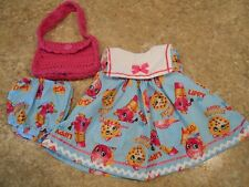 """VINTAGE CHATTY CATHY 18-20"""" NEW HANDMADE W/LOVE SHOPKINS ON BLUE 2 PC. OUTFIT"""