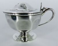 STERLING SILVER MUSTARD Jar POT Edward Viner1935 Date 80 Grams NO MONOGRAMS NICE