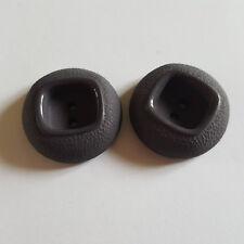 2 boutons résine gris - 30mm - 29N