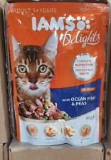 Box Of 24 Iams Delights Cat Pouches Ocean Fish 85g