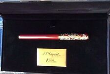 ST DUPONT YEAR OF THE GOAT LIMITED EDITION ROLLERBALL PEN GOLD WITH RED LACQUER