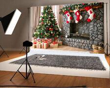 7x5ft Background Christmas Tree Decor Socks Gifts Backdrop Photos Props Studio
