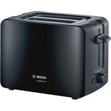 Bosch 2-Scheiben-Toaster TAT6A113 Schwarz 1.090W Auftaufunktion Brötchenaufsatz