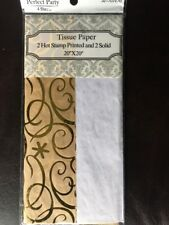 """Tissue Paper 2 Hot Stamp Printed And 2 Solid 20x20"""""""
