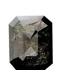 Natural Rustic Diam Brownish Gray Emerald Step cut 2.19TCW I1 8.5 x 6.8 x 3.5 MM