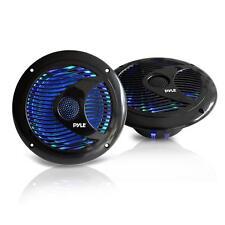 2 X 6.5'' Waterproof Marine Speakers W/Built-in Multi-Color LED Lights 150 Watt